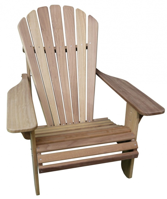 Basic Adirondack Chair In Iroko Hand Made In The Uk By