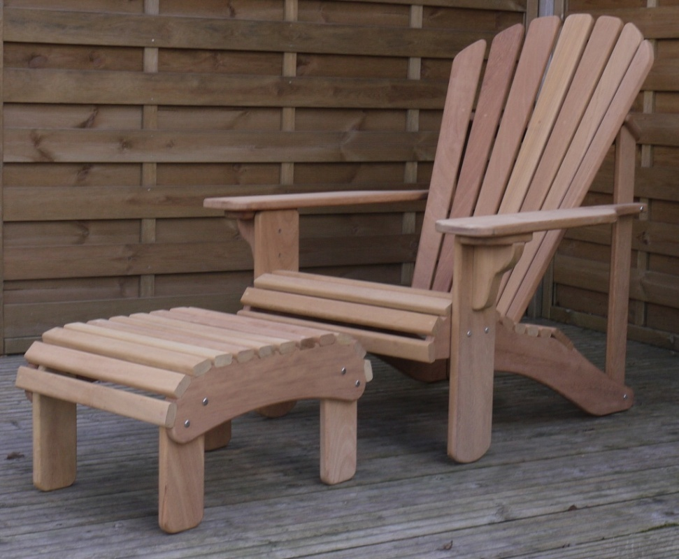 Classic Adirondack Chair In Iroko Hand Made In The Uk By