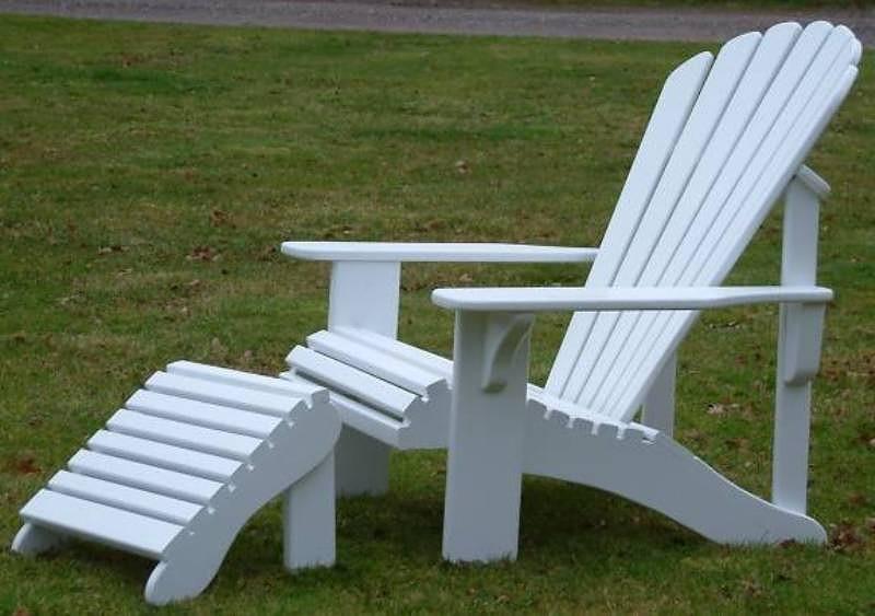 ... Adirondack Chair In Iroko   Painted White ...