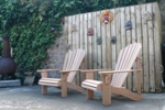 2 Classic Cedar Chairs in a Darlington Garden
