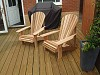 Basic Adirondack Chairs on a newly built deck in Crawley