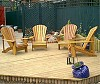 4 Classic Cedar chairs on a Hertfordshire deck