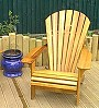 Classic Cedar chair on a Hertfordshire deck