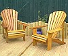 2 Classic Cedar chairs on a Hertfordshire deck