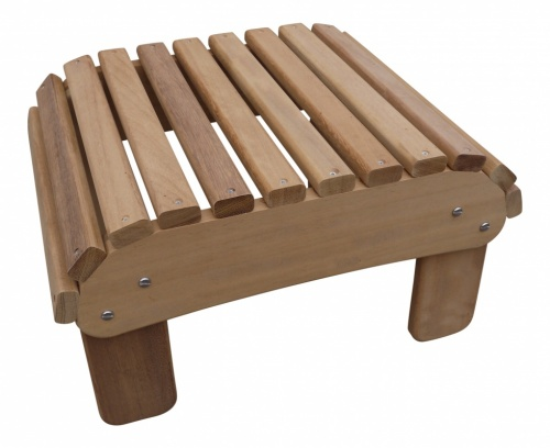 Basic Footstool in Iroko Hardwood