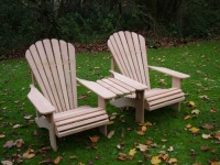 Classic Adirondack Companion Set in European Oak