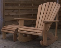 Classic Adirondack Rocking Chair in Iroko